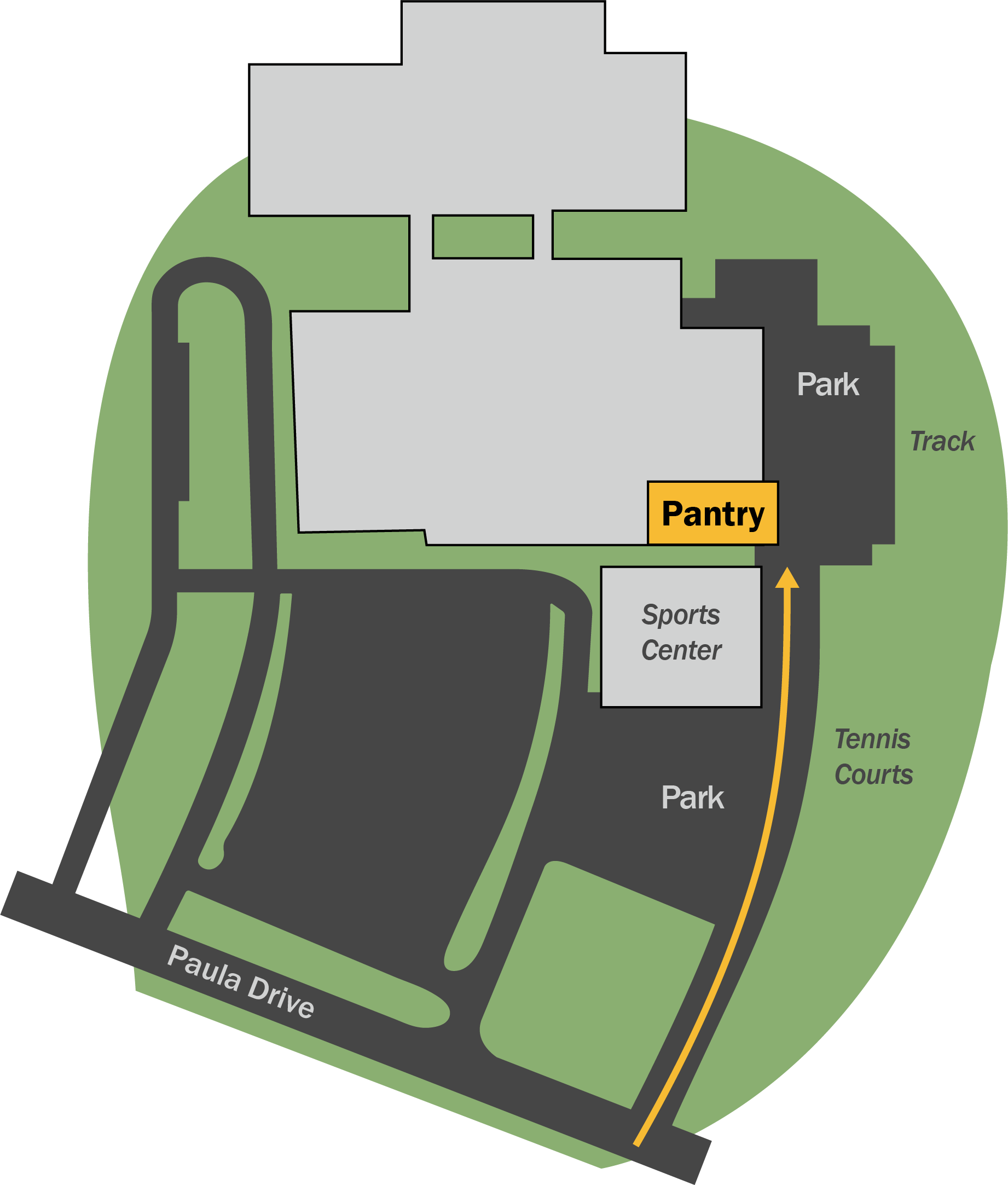 map of Middleburg Heights Food Pantry